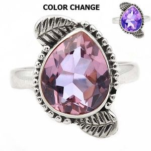 Jewelry - 5CT Color Changing Alexandrite .925 Sterling 8.5